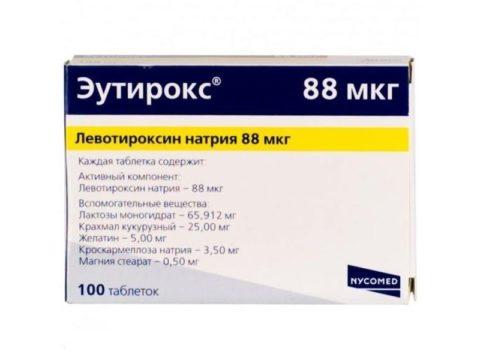 Препарат для компенсации врожденного гипотиреоза у новорожденных