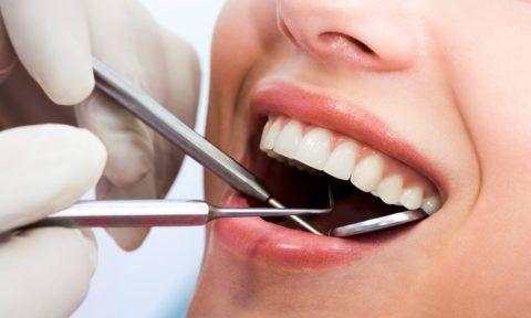 Визуальный и инструментальный осмотр полости рта