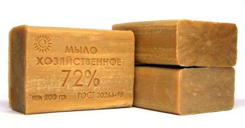 В народных рецептах используется только мыло, изготовленное по ГОСТ.
